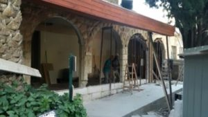 Garden tomb shop: renovation